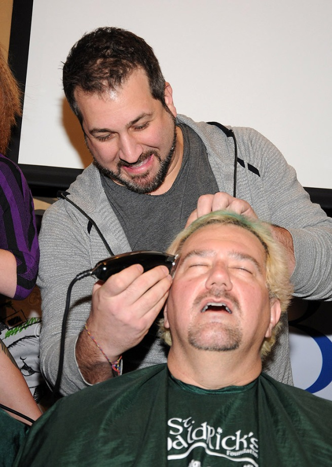 Joey Fatone Shaves Cat Thomas