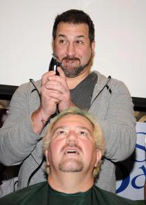 Joey Fatone jumped in to help raise money for St. Baldrick's. Still one of the best people on the planet.